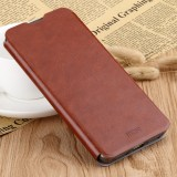 MOFI Rui Series Classical Leather Flip Leather Case With Bracket Embedded Steel Plate All-inclusive for Xiaomi RedMi 7 (Brown)