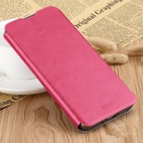 MOFI Rui Series Classical Leather Flip Leather Case With Bracket Embedded Steel Plate All-inclusive for Xiaomi RedMi 7 (Red)