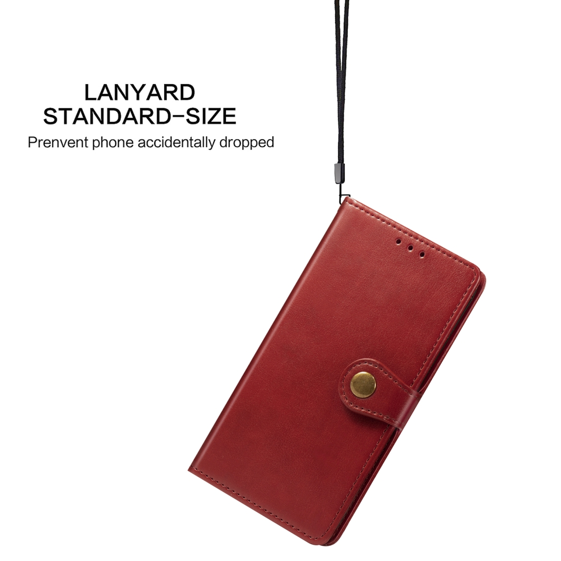 Retro Solid Color Leather Buckle Mobile Phone Protection Leather Case with Lanyard & Photo Frame & Card Slot & Wallet & Bracket Function for Sony Xperia XZ4 Compact / Xperia XZ4 Mini (Red)