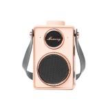 Retro Super Bass Mini Portable Speaker Usb Handfree Small Music Speaker Mp3 Player With Microphone (Pink)