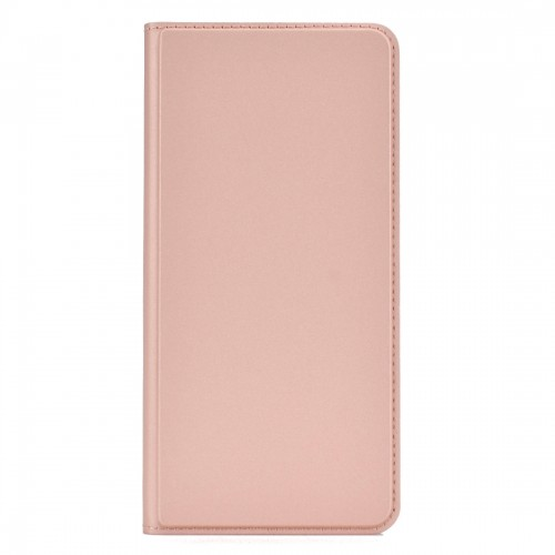 Electric Pressed Plain Texture Ultra-thin Magnetic Suction TPU + PU Leather Case with Holder & Card Slot for Galaxy Note10 (Rose gold)