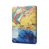 Van Gogh Oil Painting Pattern Horizontal Flip PU Leather Protective Case for Amazon Kindle 2019, with Sleep & Wake-up Funtion