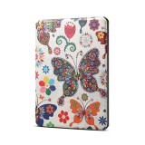 Colors Butterfly Pattern Horizontal Flip PU Leather Protective Case for Amazon Kindle 2019, with Sleep & Wake-up Funtion