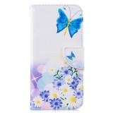 Colored Drawing Butterfly Love Flower Pattern Horizontal Flip Leather Case for Xiaomi Redmi Note 7 / Redmi Note 7 Pro, with Holder & Card Slots & Wallet