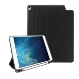 Mutural Exquisite Series Cloth Texture PU+TPU Leather Case for iPad Pro 10.5 inch, with 3-Fold Holder & Pen Slot & Sleep & Wake-up Function (Black)