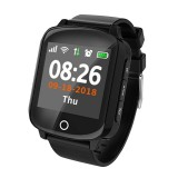 D200 1.54 inch IPS Color Screen Smartwatch for the Elder IP68 Waterproof, Support GPS+LBS+WiFi Tracker / One-key First-aid / Heart Rate Blood Pressure Monitoring / Fall-down Alarm / Two-way Conversation (Black)
