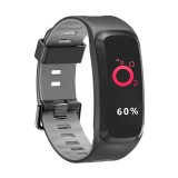 DTNO.1 F4 0.95 inches IPS Color Screen Smart Bracelet IP68 Waterproof, Support Call Reminder / Heart Rate Monitoring / Blood Pressure Monitoring /Sleep Monitoring / Blood Oxygen Monitoring (Grey)