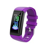 C21 1.14 inches IPS Color Screen Smart Bracelet IP67 Waterproof, Support Call Reminder / Heart Rate Monitoring / Blood Pressure Monitoring /Sleep Monitoring / Sedentary Reminder / Female Physiological Reminder (Purple)