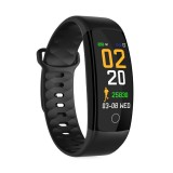 QS01 0.96 inches TFT Color Screen Smart Bracelet IP67 Waterproof, Support Call Reminder / Heart Rate Monitoring /Sleep Monitoring / Blood Pressure Monitoring /Sedentary Reminder (Black)