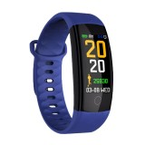 QS01 0.96 inches TFT Color Screen Smart Bracelet IP67 Waterproof, Support Call Reminder / Heart Rate Monitoring /Sleep Monitoring / Blood Pressure Monitoring /Sedentary Reminder (Blue)