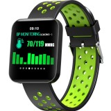 S88 1.54 inches TFT Color Screen Smart Bracelet IP67 Waterproof, Silicone Watchband, Support Call Reminder / Heart Rate Monitoring /Sleep Monitoring /Sedentary Reminder /Blood Pressure Monitoring (Green)