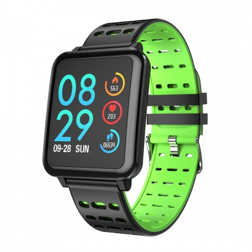T2 1.3 inches TFT IPS Color Screen Smart Bracelet IP67 Waterproof, Support Call Reminder / Heart Rate Monitoring /Sleep Monitoring /Sedentary Reminder /Blood Pressure Monitoring /Blood Oxygen Monitoring (Green)