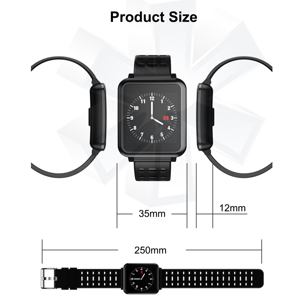 T2 1.3 inches TFT IPS Color Screen Smart Bracelet IP67 Waterproof, Support Call Reminder / Heart Rate Monitoring /Sleep Monitoring /Sedentary Reminder /Blood Pressure Monitoring /Blood Oxygen Monitoring (Blue)