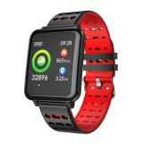 T2 1.3 inches TFT IPS Color Screen Smart Bracelet IP67 Waterproof, Support Call Reminder / Heart Rate Monitoring /Sleep Monitoring /Sedentary Reminder /Blood Pressure Monitoring /Blood Oxygen Monitoring (Red)
