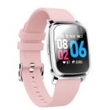 CV06 1.3 inch TFT Color Screen TPU Watch Strap Smart Bracelet, Support Call Reminder/ Heart Rate Monitoring / Blood Pressure Monitoring/ Sleep Monitoring/Blood Oxygen Monitoring (Pink)