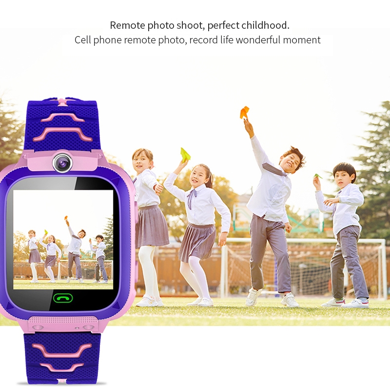 Q12B 1.44 inch Color Screen Smartwatch for Children, Support LBS Positioning / Two-way Dialing / One-key First-aid / Voice Monitoring / Setracker APP (Pink)