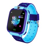 Q12B 1.44 inch Color Screen Smartwatch for Children, Support LBS Positioning / Two-way Dialing / One-key First-aid / Voice Monitoring / Setracker APP (Blue)