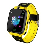 Q12B 1.44 inch Color Screen Smartwatch for Children, Support LBS Positioning / Two-way Dialing / One-key First-aid / Voice Monitoring / Setracker APP (Yellow)