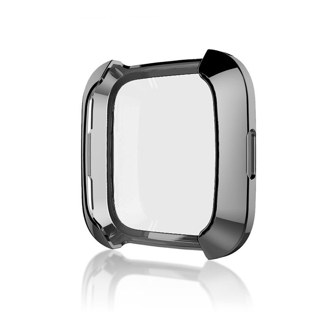 Smart Watch Soft TPU Protective Case for Fitbit Versa (Black)