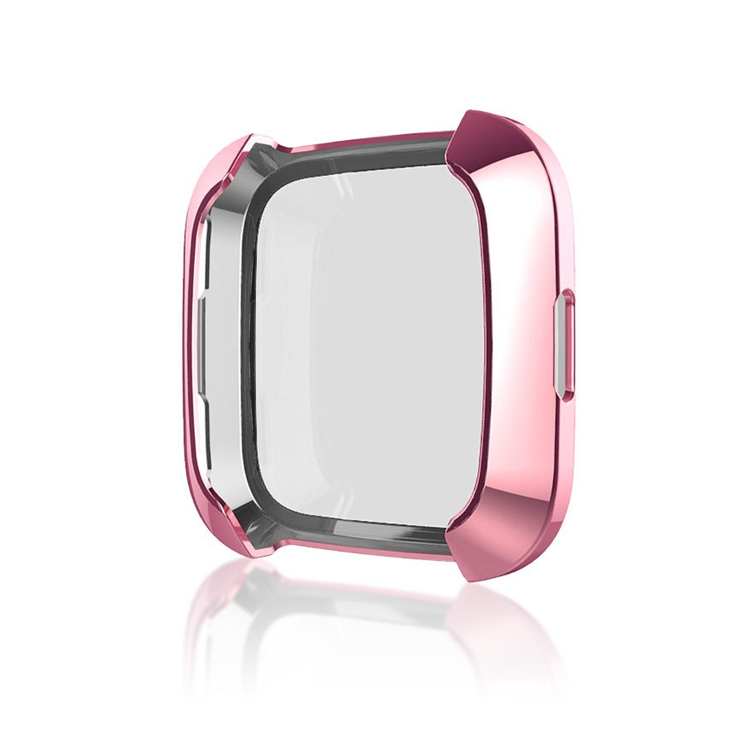 Smart Watch Soft TPU Protective Case for Fitbit Versa (Pink)