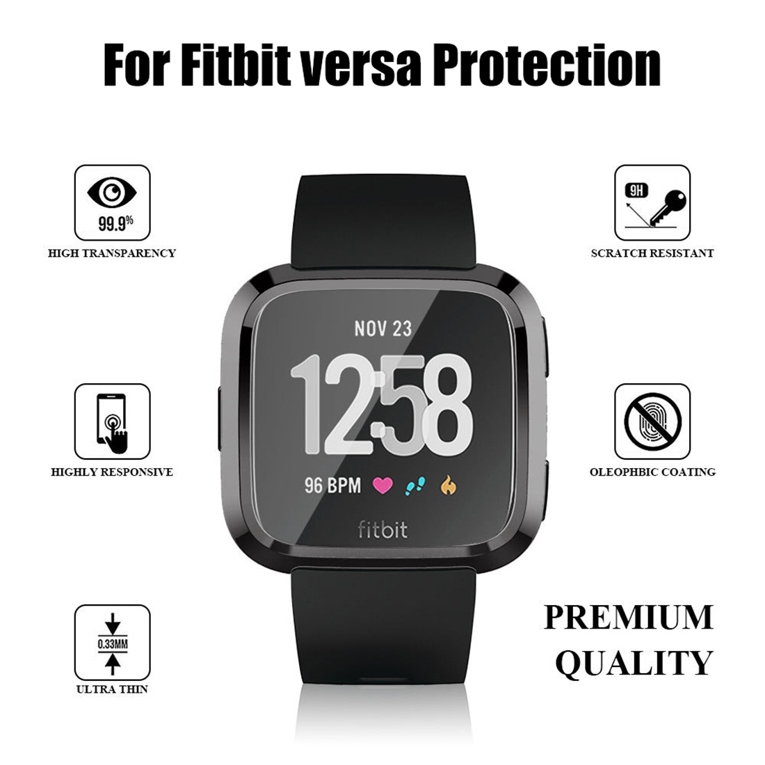 Smart Watch Soft TPU Protective Case for Fitbit Versa (Gold)
