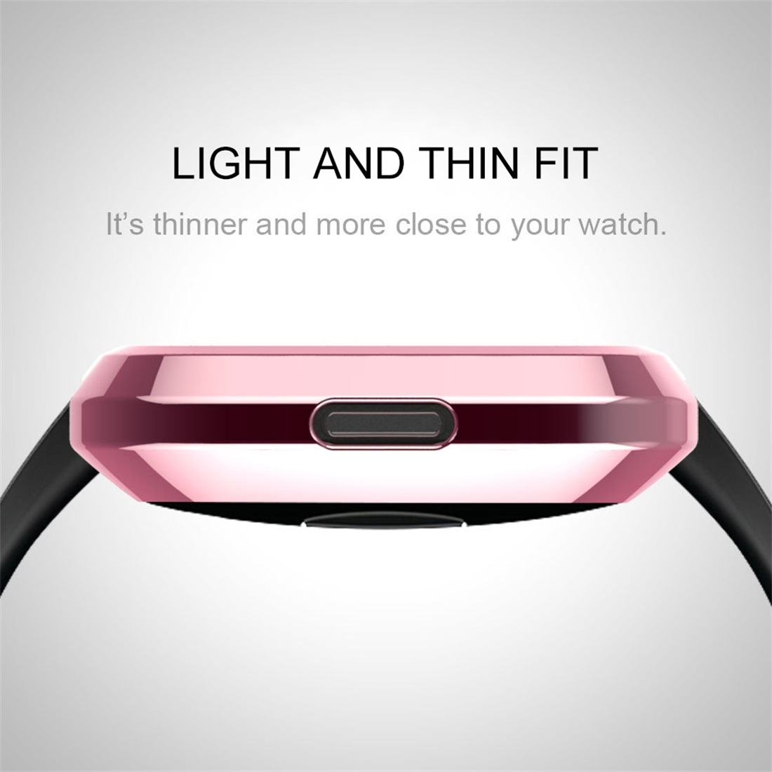 Smart Watch Soft TPU Protective Case for Fitbit Versa (Silver)
