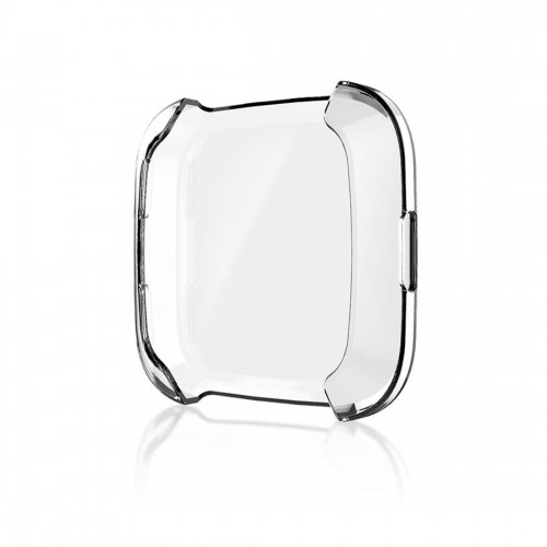 Smart Watch Soft TPU Protective Case for Fitbit Versa (Transparent)