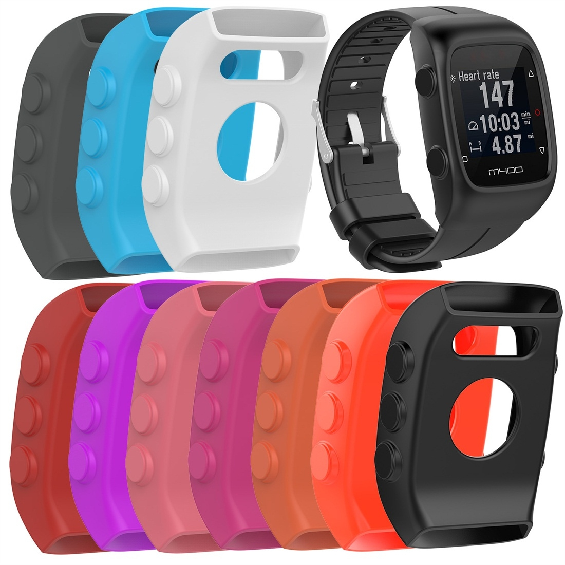 Smart Watch Silicone Protective Case for POLAR M430 (White)