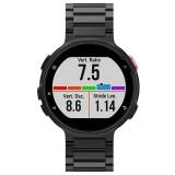Universal Smart Watch Three Steel Strips Wrist Strap Watchband for Garmin Forerunner 220 / 230 / 235 / 630 / 620 / 735 (Black)