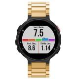Universal Smart Watch Three Steel Strips Wrist Strap Watchband for Garmin Forerunner 220 / 230 / 235 / 630 / 620 / 735 (Gold)