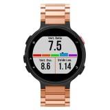 Universal Smart Watch Three Steel Strips Wrist Strap Watchband for Garmin Forerunner 220 / 230 / 235 / 630 / 620 / 735 (Rose Gold)