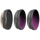 3 in 1 Sunnylife OA-FI174 CPL+ND8+ND16 Lens Filter for DJI OSMO ACTION
