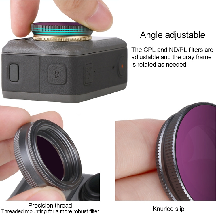 4 in 1 Sunnylife OA-FI176 ND4+ND8+ND16+ND32 Lens Filter for DJI OSMO ACTION