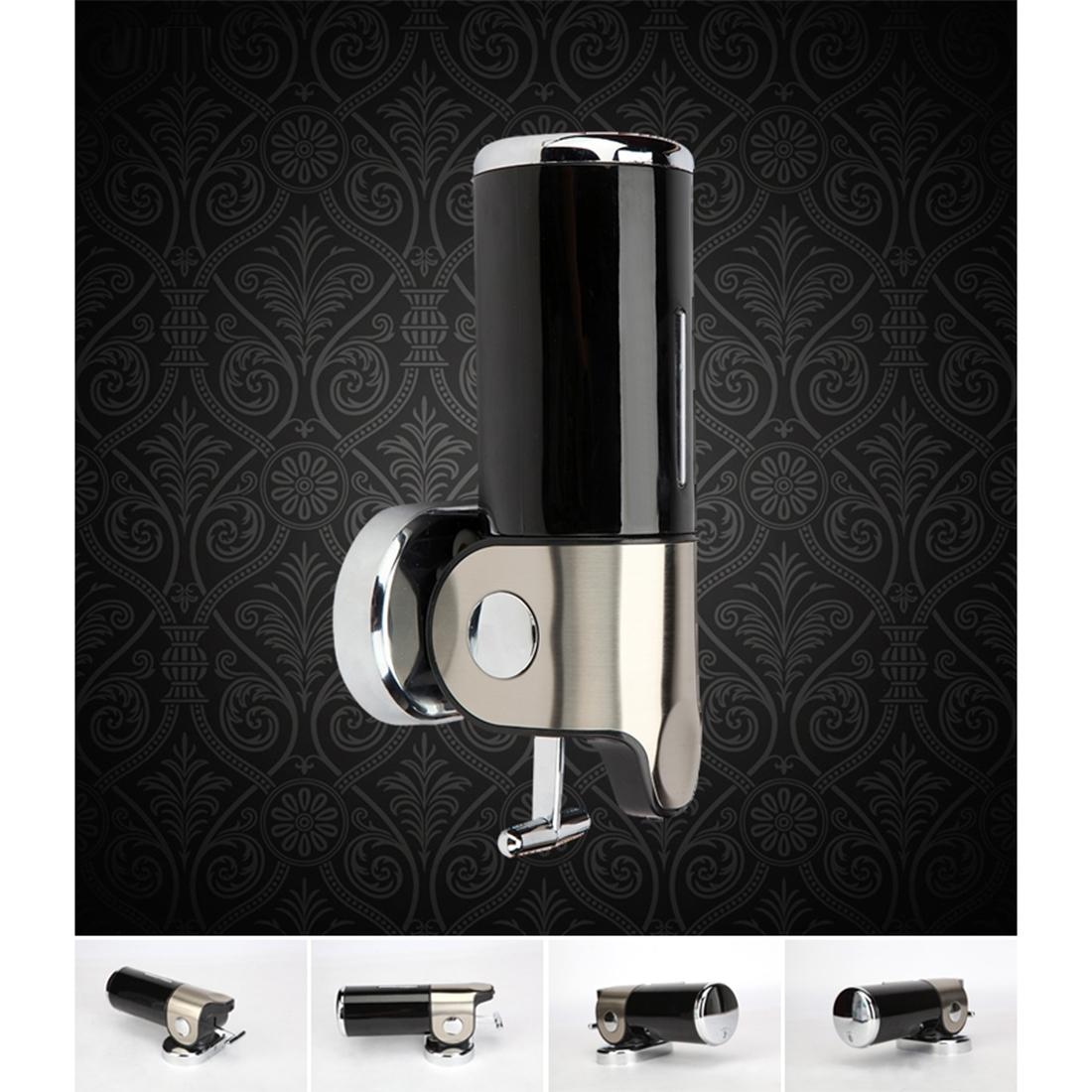 Dual Hotel Shower Manual Dispenser Wall Mounted Washing Liquid Shampoo Soap Bottle, Capacity: 1000ml (Dark Red)