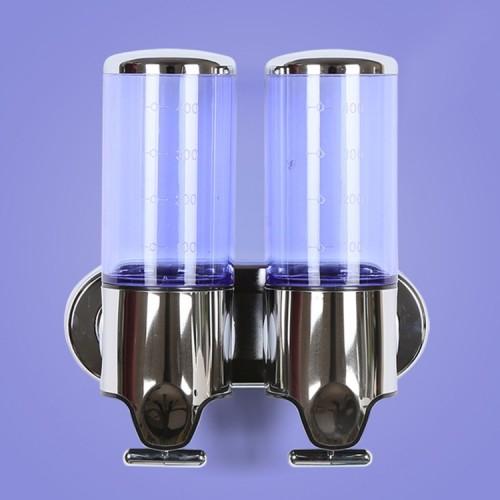 Dual Hotel Shower Manual Dispenser Wall Mounted Washing Liquid Shampoo Soap Bottle, Capacity: 1000ml (Purple)