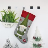 2 PCS CX20204 Faceless Doll Christmas Sock Gift Bag Christmas Tree Pendant Decoration (Grey)