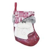 Santa Claus Pattern Christmas Sock Gift Bag Christmas Tree Pendant Decoration