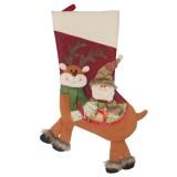 2 PCS CX20226 Santa Claus Pattern Christmas Sock Gift Bag Christmas Tree Pendant Decoration