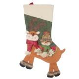 2 PCS CX20226 Snowman Pattern Christmas Sock Gift Bag Christmas Tree Pendant Decoration