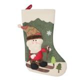 2 PCS CX20227 Santa Claus Pattern Christmas Sock Gift Bag Christmas Tree Pendant Decoration