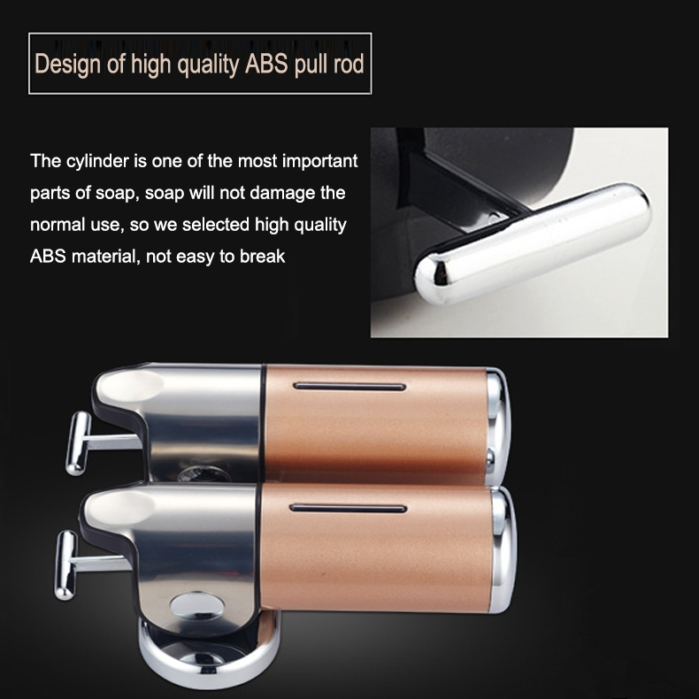 Hotel Shower Manual Dispenser Wall Mounted Washing Liquid Shampoo Soap Bottle, Capacity: 500ml (White)