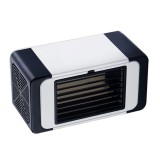 Office Household USB Mini Air Conditioning Fan Portable Desktop Air Cooler (Black)