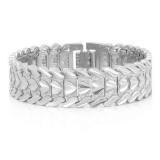 Fashion Brass Gold-plated Heart Bracelet Jewelry, Size: L (Silver)