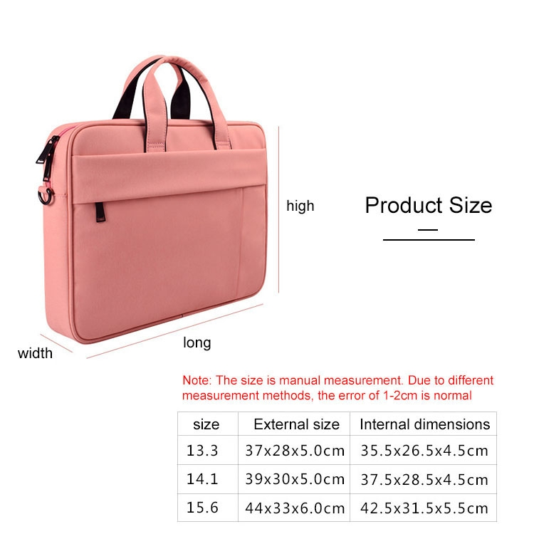 Light Weight and Easy to Carry with Suitcase Belt Black Light and Beautiful DJ03 Waterproof Anti-Scratch Anti-Theft One-Shoulder Handbag for 14.1 inch Laptops ,Slim Design