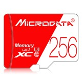 MICRODATA 256GB High Speed U3 Red and White TF (Micro SD) Memory Card