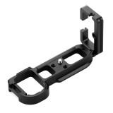 PULUZ 1/4 inch Vertical Shoot Quick Release L Plate Bracket Base Holder for Sony A7R / A7 / A7S / A7R2 / A7M2 / A7S2 (Black)