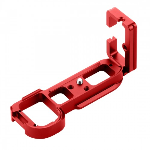 PULUZ 1/4 inch Vertical Shoot Quick Release L Plate Bracket Base Holder for Sony A7R / A7 / A7S / A7R2 / A7M2 / A7S2 (Red)