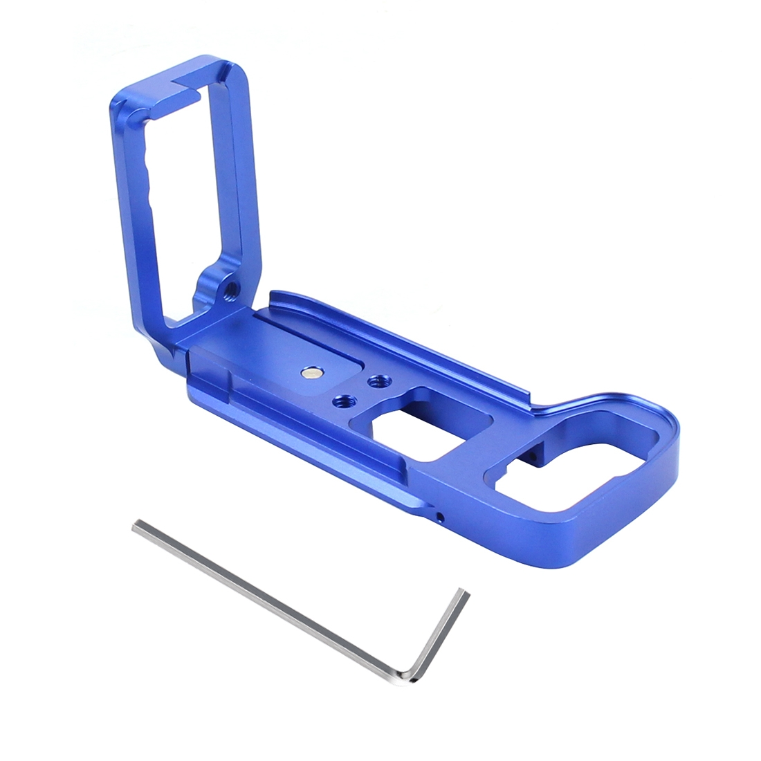 PULUZ 1/4 inch Vertical Shoot Quick Release L Plate Bracket Base Holder for Sony A9 (ILCE-9) / A7 III/ A7R III (Blue)