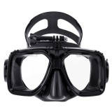 PULUZ Water Sports Diving Equipment Diving Mask Swimming Glasses, Compatible with DJI Osmo Action, GoPro HERO7 /6 /5 /5 Session /4 Session /4 /3+ /3 /2 /1, Xiaoyi and Other Action Cameras (Black)
