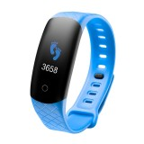 CB608 0.96 inch TFT Color Screen Smart Bracelet IP68 Waterproof, Support Call Reminder/ Heart Rate Monitoring / Blood Pressure Monitoring/ Sleep Monitoring/Excessive Sitting Reminder (Blue)